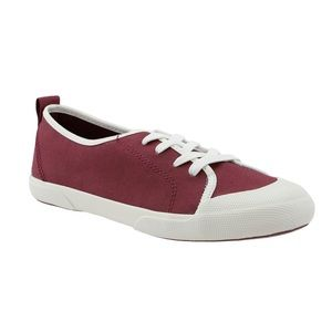 NIB! Sperry Breeze Lace Up Canvas Sneakers Oxblood